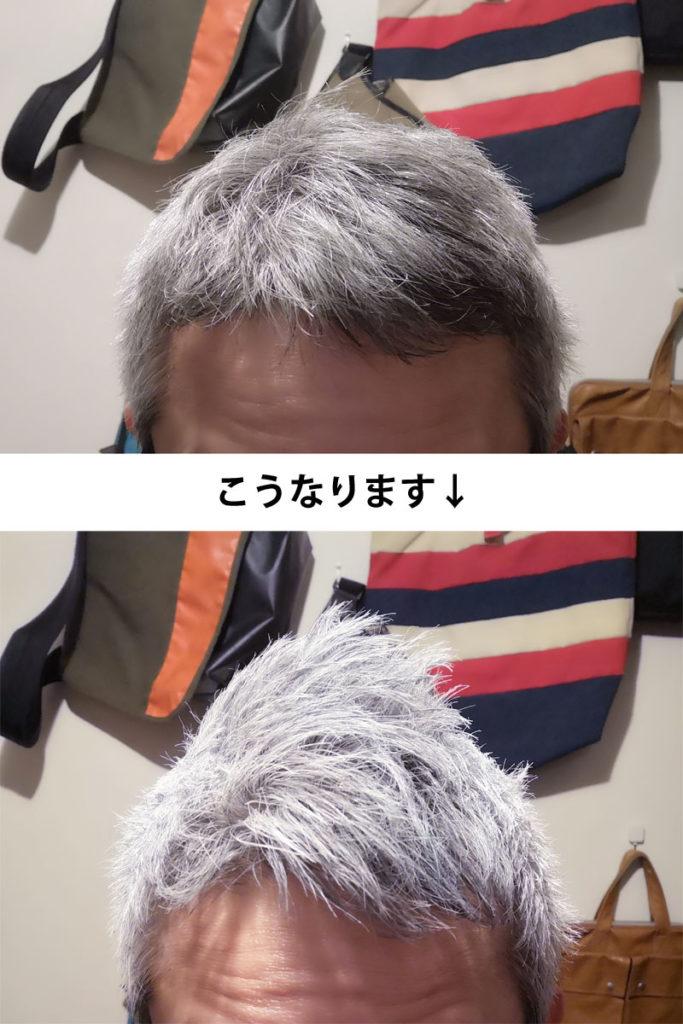 シルバーアッシュを実際に使用した画像