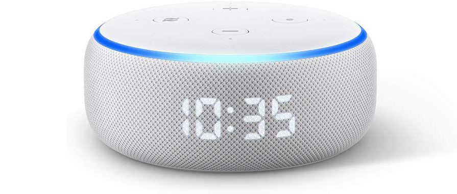 with clock echo dot