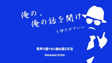 Amazon Echo<br>アレクサ が 聞き取らない 曲を流す方法