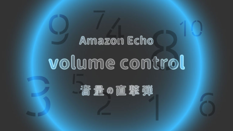 Echo アレクサ volume 音量調整