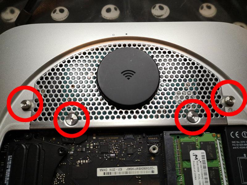 mac mini アンテナを外す